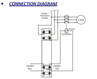 Relay protection of screw and scroll compressors